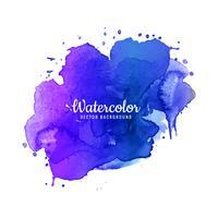 Schöner bunter Watercolosplashentwurf