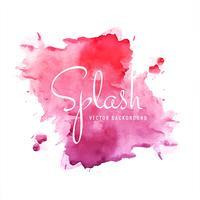 Illustration de fond coloré aquarelle splash
