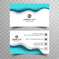 Diseño abstracto azul de la tarjeta de visita de la onda vector