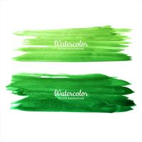Beautiful watercolor green hand draw strokes set design