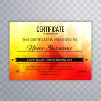 Beautiful colorful certifiate template background