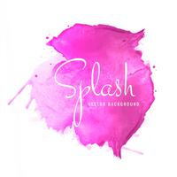 Pink soft watercolor splash blot design