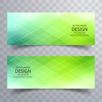 Modern bright colorful banners set vector design