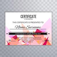 Beautiful colorful polygon certificate template