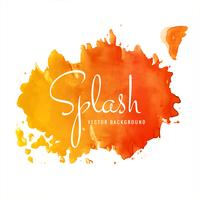 Hand drawn colorful soft watercolor splash design vector