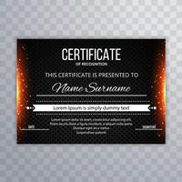 Modern glowing certificate template background