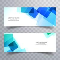 Abstract colorful polygon blue header set design