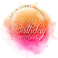 Birthday greeting card Happy birthday Colorful confetti backgrou