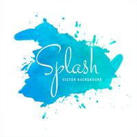 Abstrait bleu aquarelle splash