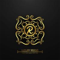 Modern luxury brand logo background