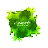 Beautiful green watercolor splash background