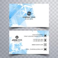 Abstract blue geometric business card vector