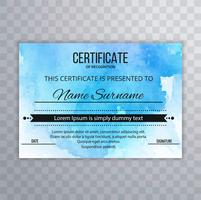 Abstract certificate design template vector
