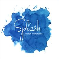 Modern blue soft watercolor splash background