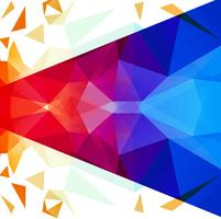 Abstract bright colorful polygonal background