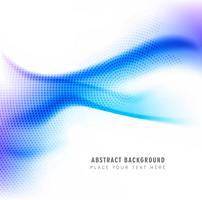 Beautiful creative blue wave background