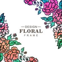 Beautiful colorful decorative wedding frame floral background