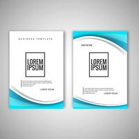 Modern business brochure template vector design