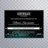 Modern certificate template vector background