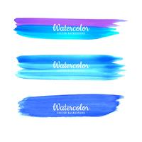 Hand drawn watercolor stroke colorful shade design vector
