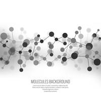 Abstract molecules background vector