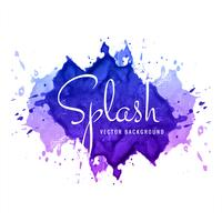 Abstract colorful watercolor splash background vector