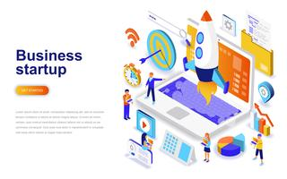 Business startup modern flat design isometric concept