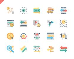 Einfache Set Traffic Flat Icons für Website und Mobile Apps. 48x48 Pixel Perfekt. Vektor-Illustration.