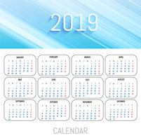 Modern 2019  calendar template vector design