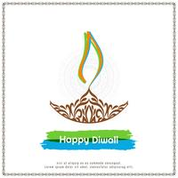 Abstract elegant Happy Diwali festival background