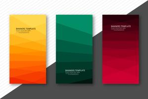 Abstrakt färgstarka pappersbana banner uppsättning mall design vektor