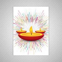 Happy diwali colorful brochure template vector