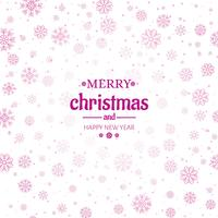 Merry christmas greeting card snowflakes background illustration