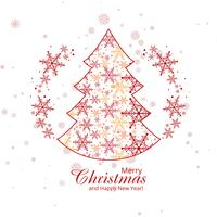 Elegant snowflakes decorative merry christmas tree background