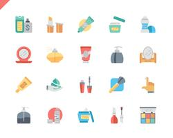 Simple Set Cosmetics Flat Icons pour site Web et applications mobiles. 48x48 Pixel Parfait. Illustration vectorielle