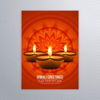 Nice brochure for diwali template colorful diwali vector
