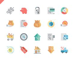 Simple Set Loan Flat Icons for Website and Mobile Apps. 48x48 Pixel Perfect. Vector illustration.