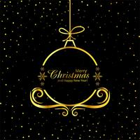 Merry Christmas decorative ball background vector