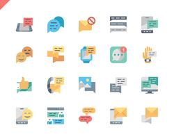 Simple Set Message Flat Icons voor website en mobiele apps. 48x48 Pixel Perfect. Vector illustratie.