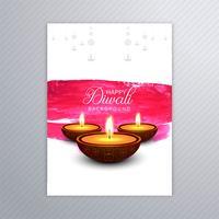 Glad diwali färgrik broschyr mall vektor