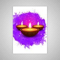 Gelukkige diwali kleurrijke brochure sjabloon vector
