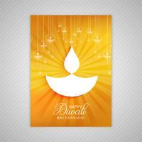 Ornamental elegante diwali cartão brochura modelo vector