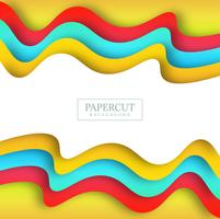 Beautiful Papercut colorful wave background
