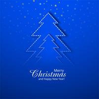 Beautiful blue christmas background with creative tree design ve