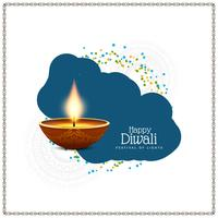 Abstract religious Happy Diwali stylish background