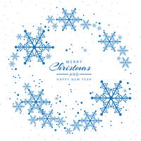 Christmas card snowflakes decorative festival background