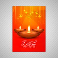 Vettore variopinto del modello dell'opuscolo di diwali felice