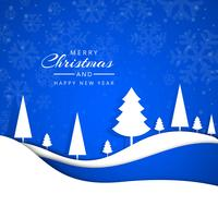 Merry christmas greeting card snowflakes vector design