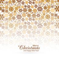 Elegant Merry christmas greeting card with snowflakes background