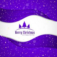 Merry christmas greeting card snowflakes with wave background